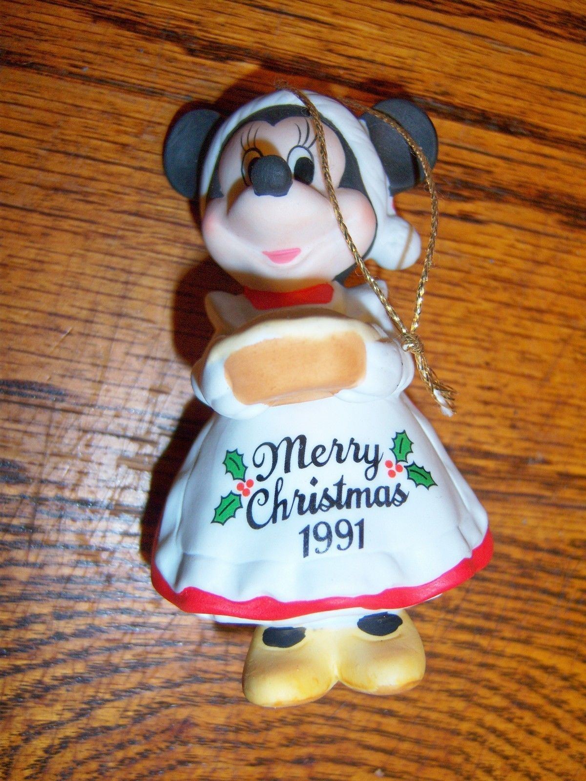 Disney China Christmas Ornament Minnie Mouse Dated 1991