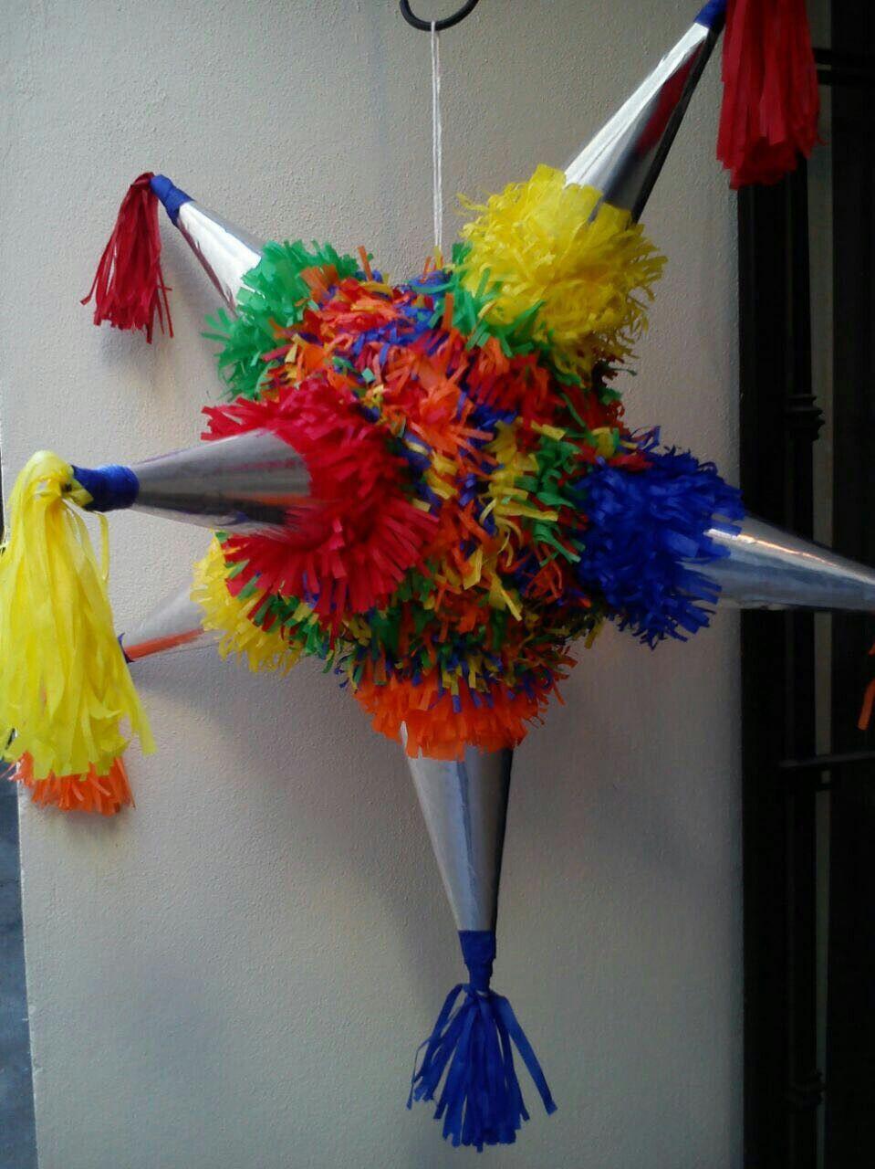 Piñata estrella 7 picos para Navidad Piñata Infantiles c99bfc2216c