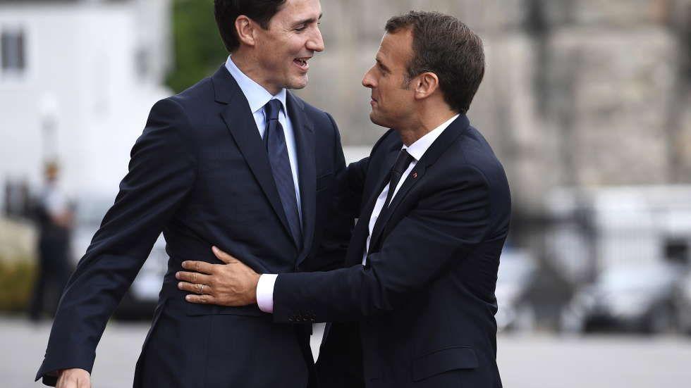 Emmanuel Macron Wedding.Justin Trudeau Emmanuel Macron Looked Like They We0re Headed To