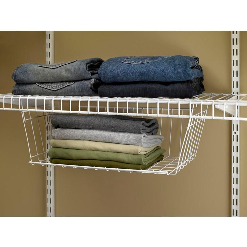 closetmaid 9 3 4 in d x 7 7 8 in h x 17 in l hanging basket for rh pinterest co uk