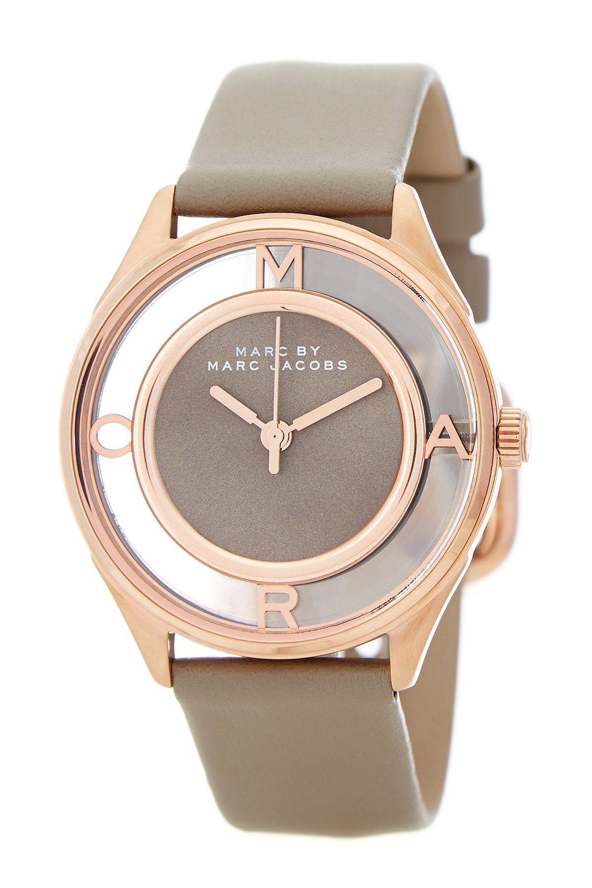 Women's Tether Leather Strap Watch by Marc by Marc Jacobs on @HauteLook