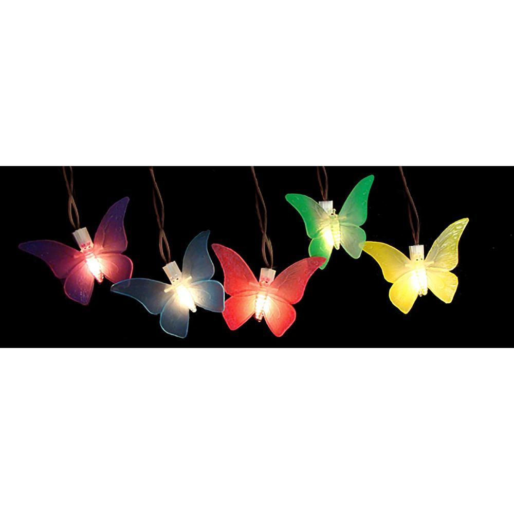 Sienna 10-Light Multi-Color Battery Operated Butterfly Garden Patio Umbrella LED Lights with Timer (10-Pack)-28376922 - The Home Depot