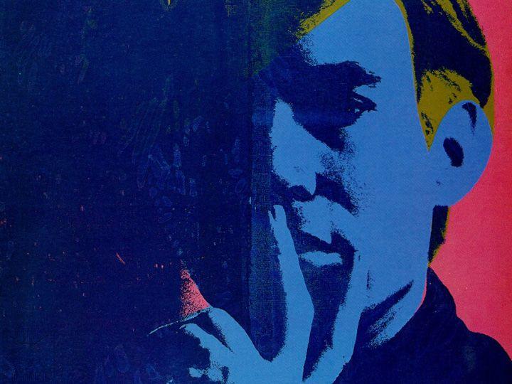 Andy Warhol - Self-portrait, 1966-1967,  acrylic and silkscreen ink on linen
