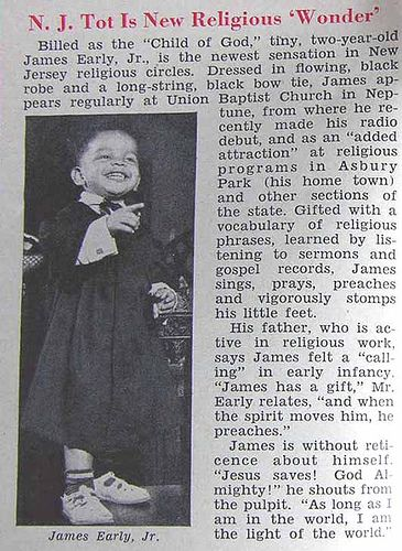 James Early, Jr., New Jersey Tot, Is New Religious Wonder - Jet Magazine, September 24, 1953   Flickr - Photo Sharing!
