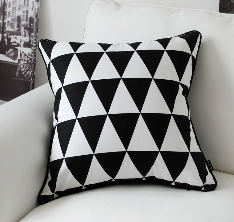 Wholesale Free Shipping New Line Coton Fashion 45cm 45cm Bsl Black White Pillow Geometric Decorative Pillows Bed Pillows Decorative Decorative Cushion Covers