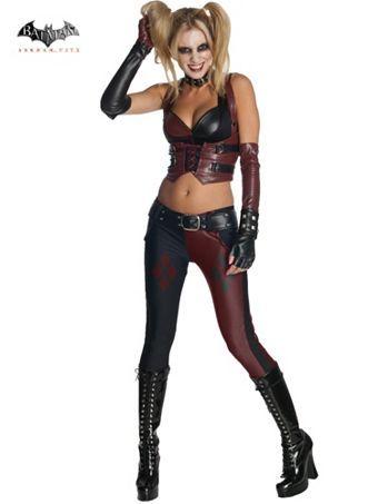 Sexy Batman Arkham City Harley Quinn Women\u0027s Costume Harley quinn - slutty halloween costume ideas