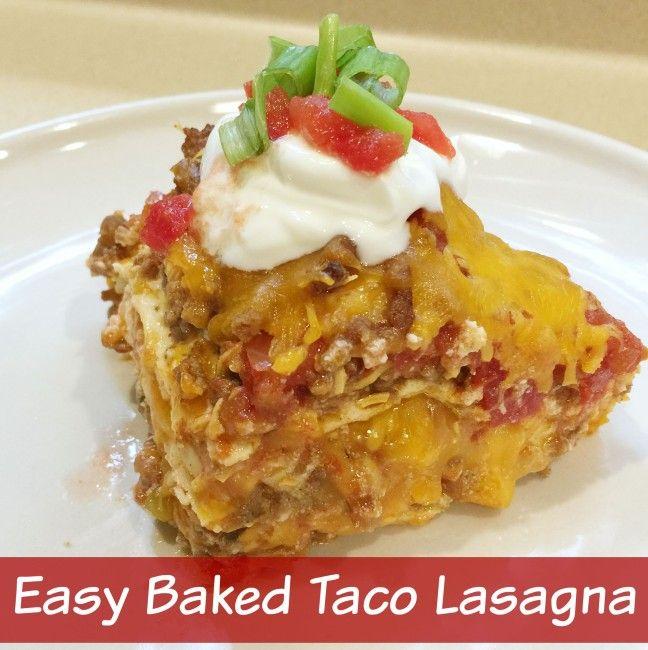Easy Baked Taco Lasagna