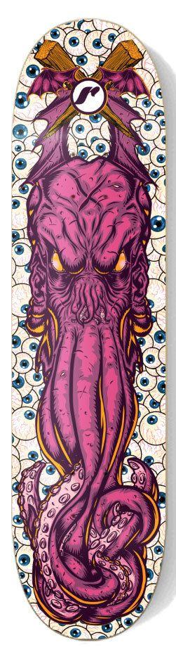 Cthullu Illustration by Ramsey Sibaja, via Behance