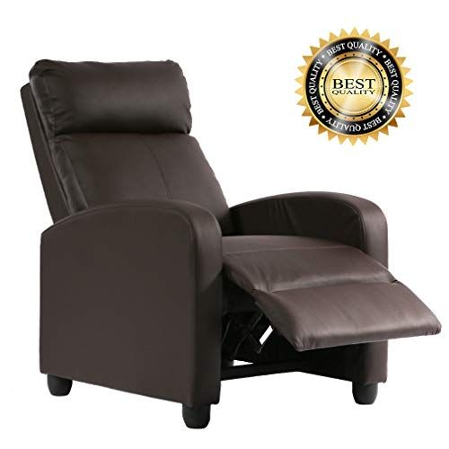 Magnificent Fdw Recliner Chair Pu Single Sofa Modern Reclining Seat Home Unemploymentrelief Wooden Chair Designs For Living Room Unemploymentrelieforg