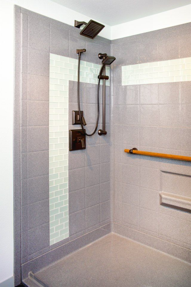 Barrier Free Shower For Bathroom Remodel From Custom Bath Solutions.