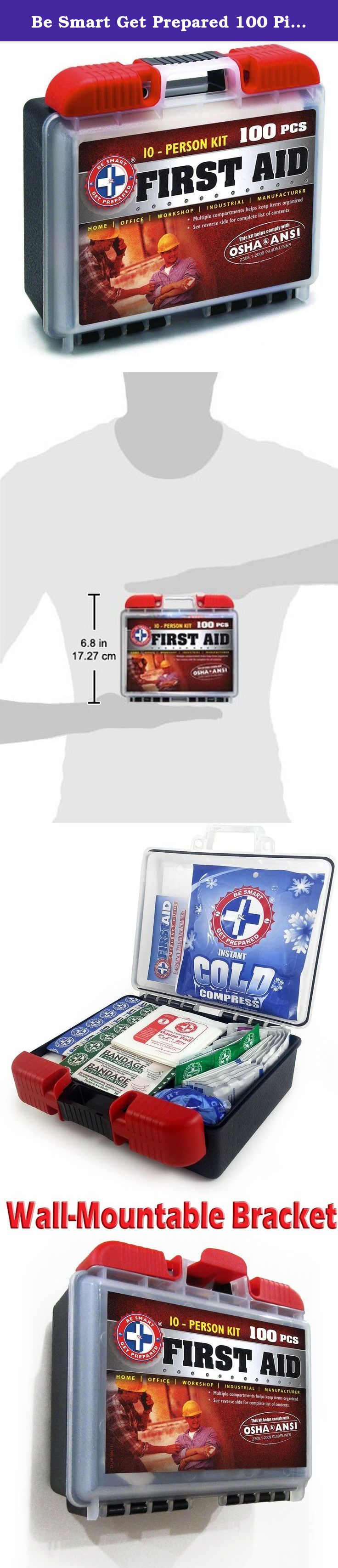 Be Smart Get Prepared 100 Piece First Aid Kit, Exceeds