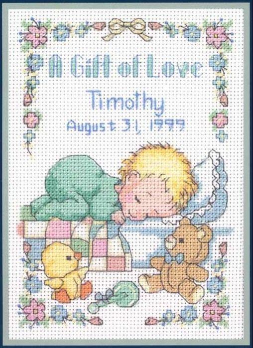 a gift of love birth sampler.. | Dekorasyon | Pinterest | Punto de ...