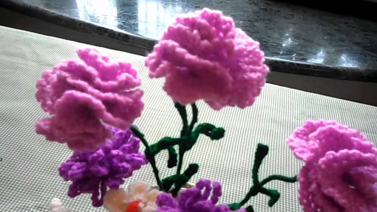 Mothers day crochet flowers what a wonderful idea for an overseas mothers day crochet flowers bouquet for my mother made by me d camera samsung tl 110 music time to do nothing do not own the music izmirmasajfo