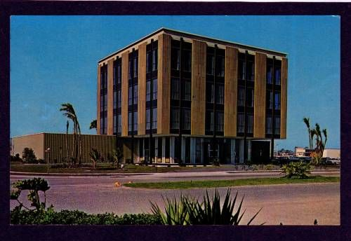Not sure if this truly was the original Gulf American Corporation building in the 1960's or not.  I remember this as First Federal in the 1980's where the bank books had covers that matched the walls of the inside of this building -- fake wood ;-P