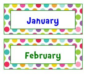 Calendar Pack Sample Colored SpotsYesterday Today And Tommorow