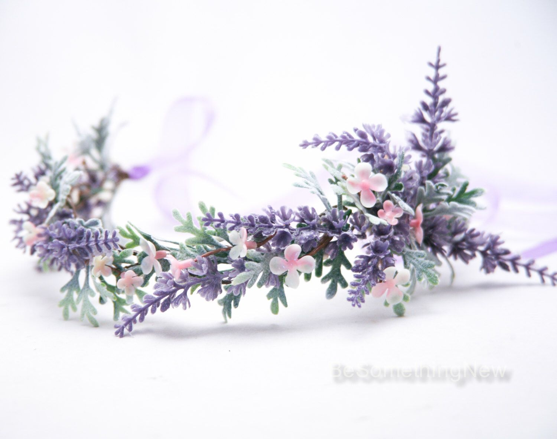 Lavender wildflower flower crown boho wedding floral headpiece lavender wildflower flower crown boho wedding floral headpiece wedding hair accessory lavender flower halo by izmirmasajfo