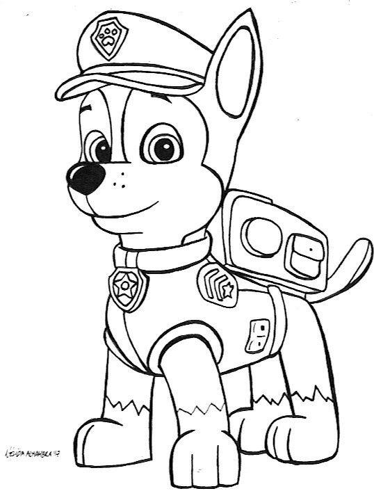 Chase Patrulla Canina Tinta A5 Papel Canson Con Imagenes