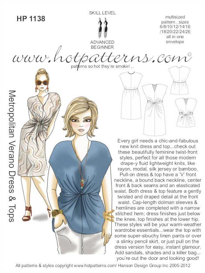 hp-1138-metropolitan-verano-dress-top/ | sewing patterns for me ...