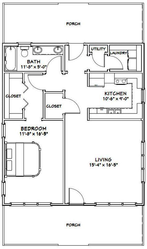 28x32 House 28x32h1 895 Sq Ft Excellent Floor Plans