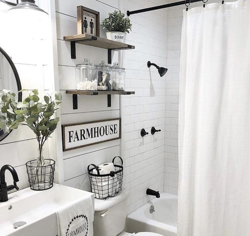 Photo of Restroom Sign | Bathroom Wall Decor | Farmhouse Bathroom Sign | Farmhouse Sign | Farmhouse Decor | Fixer Upper Style | Bathroom Decor | Home