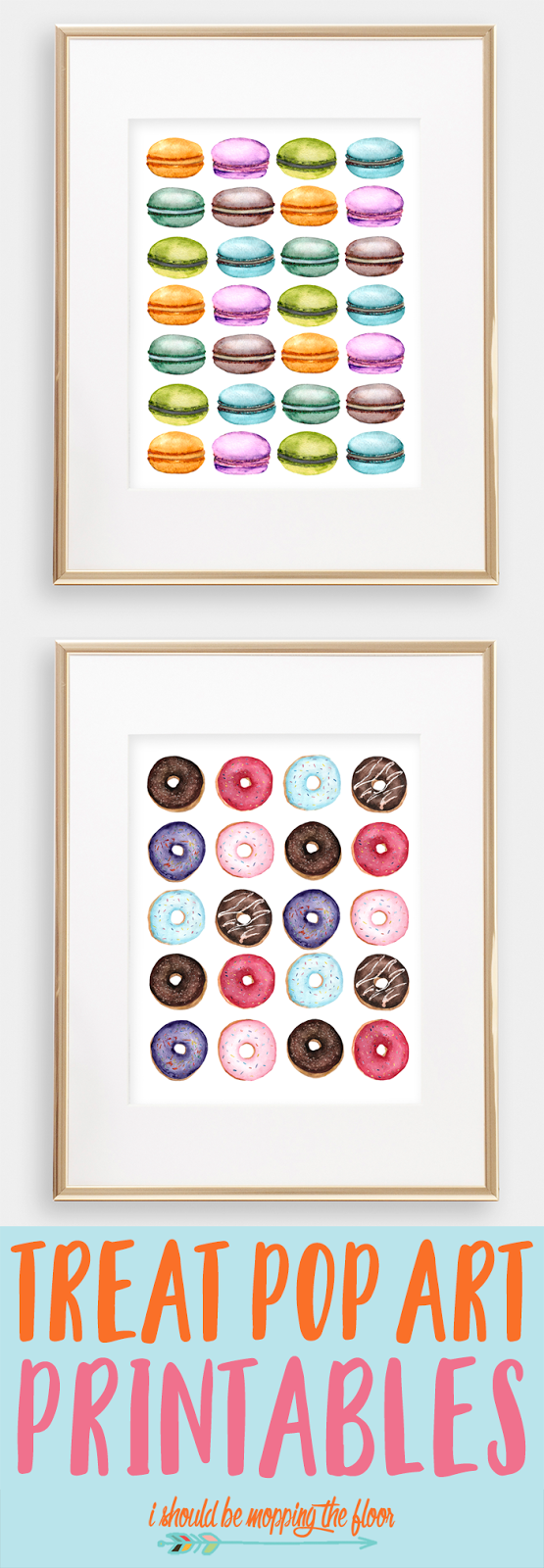 These Donut and Macaron Printables are perfect for your kitchen decor!