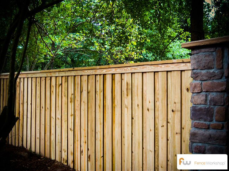 The Tillman Wood Privacy Fence Pictures Per Foot Pricing Backyard Fences Wood Privacy Fence Fence Landscaping