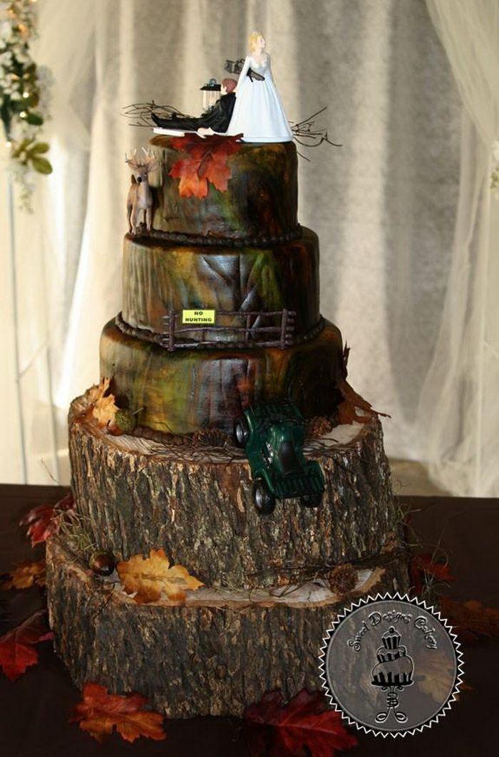 3 Tier Camo Wedding Cakes