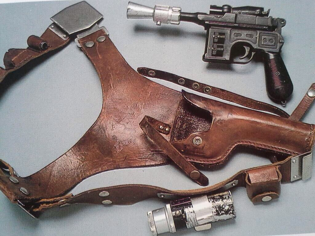 Han Solo's blaster and belt from Empire Strikes Back                                                                                                                                                                                 More
