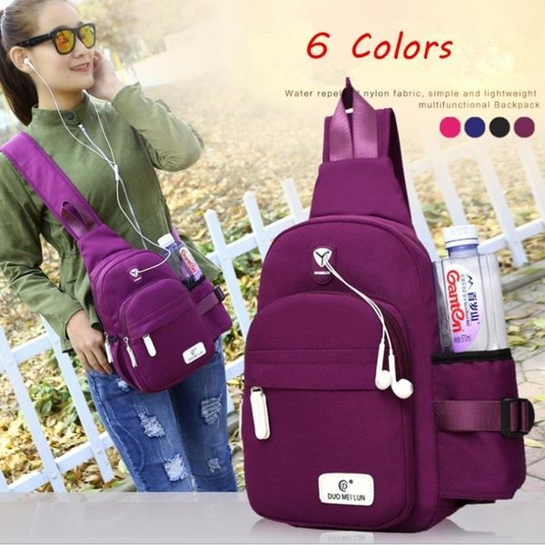 2a6dc868b Women Men Nylon Large Capacity Daily Crossbody Bag Waterproof Durable Chest Bag  Shoulder Bag