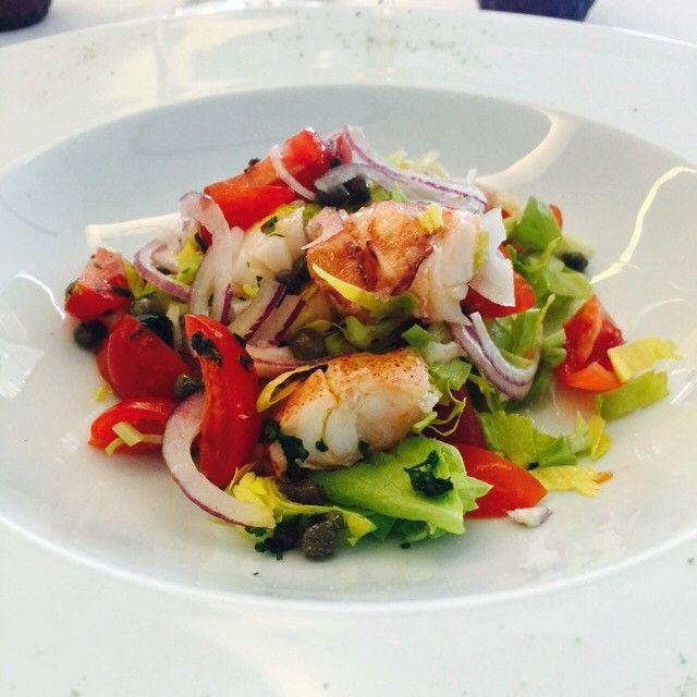 Lukewarm Lobster And Shrimp Salad With Pomodorini Shrimp Salad