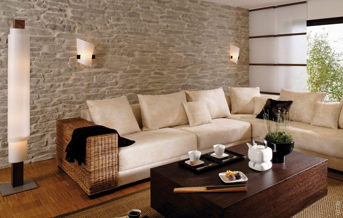 Wandgestaltung mit Stein Lajas | Wohnzimmer in 2019 ...