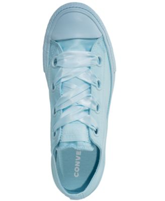 57679cb041ed Converse Girls  Chuck Taylor All Star Big Eyelets Ox Casual Sneakers from  Finish Line - Blue 5.5