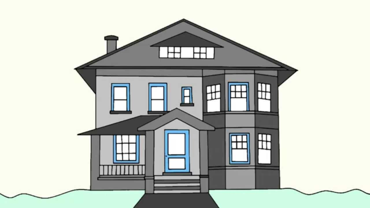 How To Draw A House Step By Step For Beginners Dream House