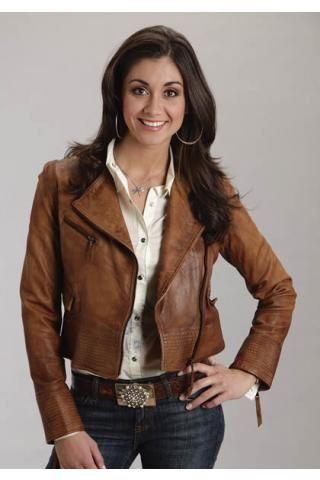 Brown leather jacket for ladies – New Fashion Photo Blog