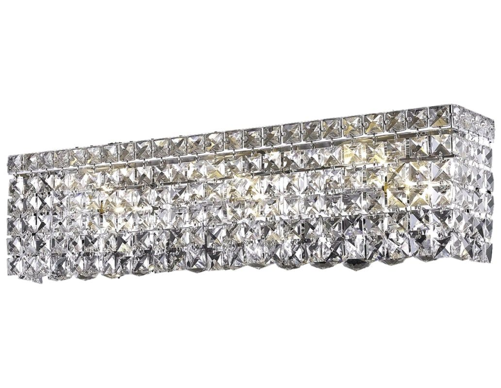 Elegant Lighting 2033W26C Maxim 6Light Crystal Vanity Light Alluring Crystal Vanity Lights For Bathroom Review