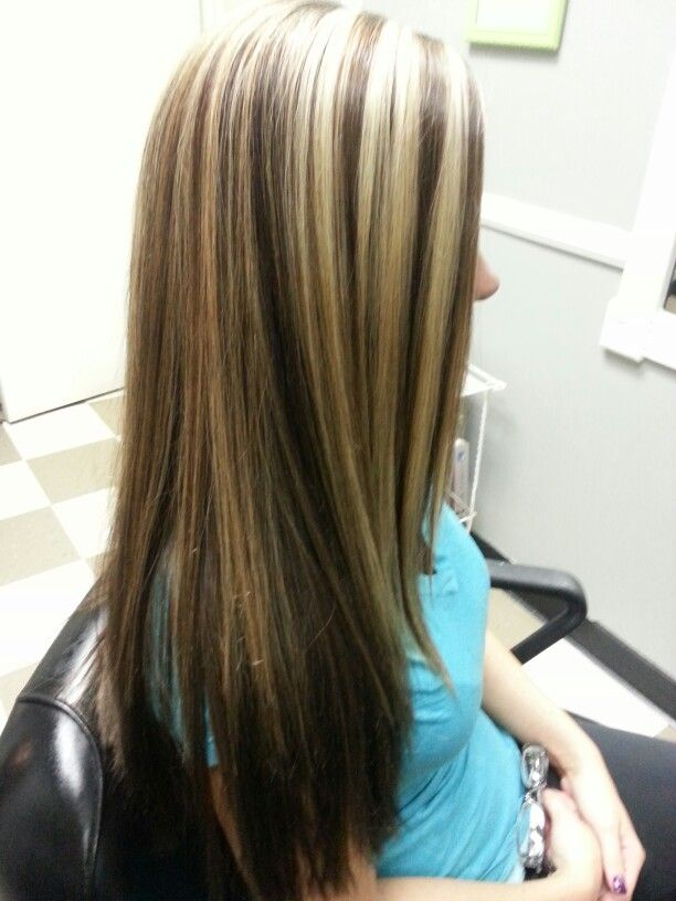 Coffee Bean Color With Blonde Highlights Hair Pinterest
