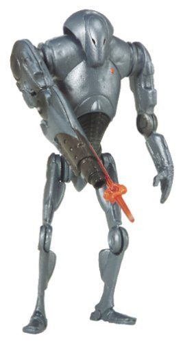 Star Wars AOTC Super Battle Droid Figure with Exploding Body by HASBRO. $4.82. Star Wars - Hasbro - Collection 1; Episode II - Attack of the Clones; Super Battle Droid. Product Description                Deadly and efficient fighters, these enhanced battle droids are  programmed with the capacity for independent fighting. With their hulking frames  and built-in firepower, they pose a formidable threat to opposing armies. This  3.75-inch-tall action figure features exp...