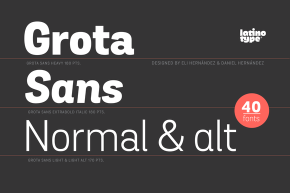 Grota Sans Complete Family 50% Off by Latinotype on @creativemarket