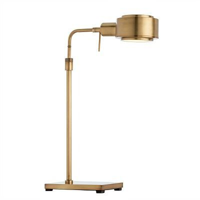 Sleek and stylish from arteriors home the elmer desk lamp has an adjustable steel arm