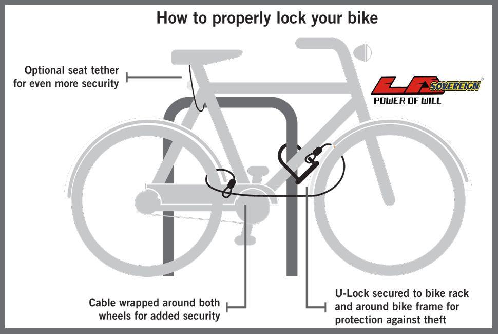 Tips How To Lock Your Bike Bike Frame Bike Rack Bike