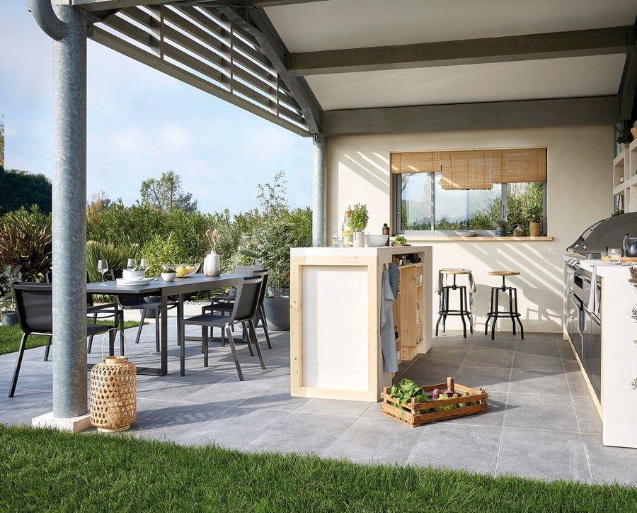Une Vraie Cuisine Dehors Leroy Merlin Inspiration En 2020 Deco Terrasse Exterieure Decoration Jardin Exterieur Logement Insolite