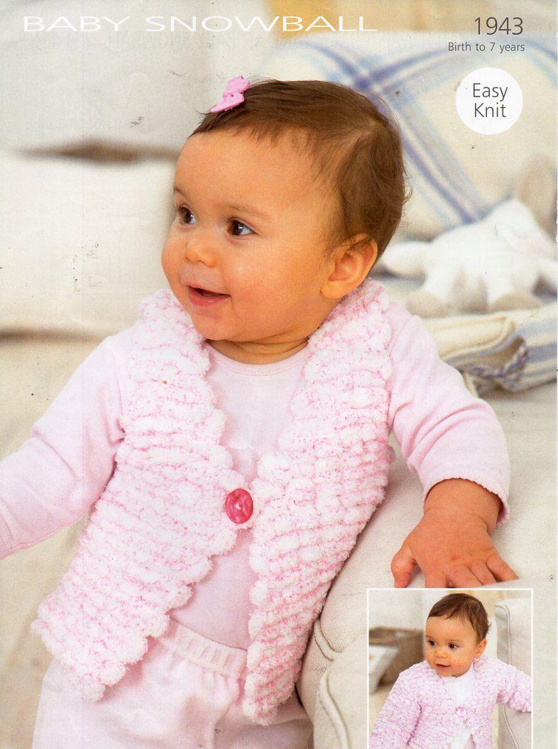 Baby Girls Lacy CARDIGAN /& SHAWL KNITTING PATTERN Crofter DK 16-26in 0-7yrs