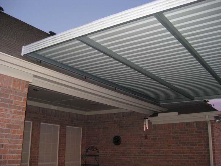 Deck Roof With Brackets On Top Of