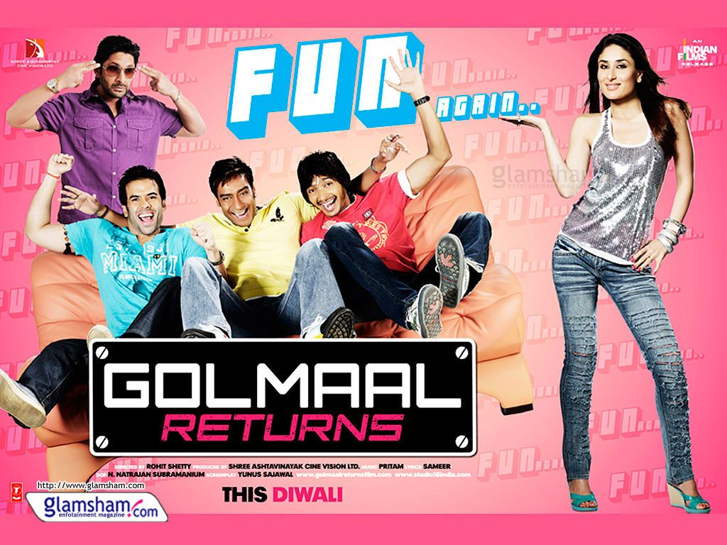 Golmaal Returns Top 10 Movies Released Around Diwali Ever