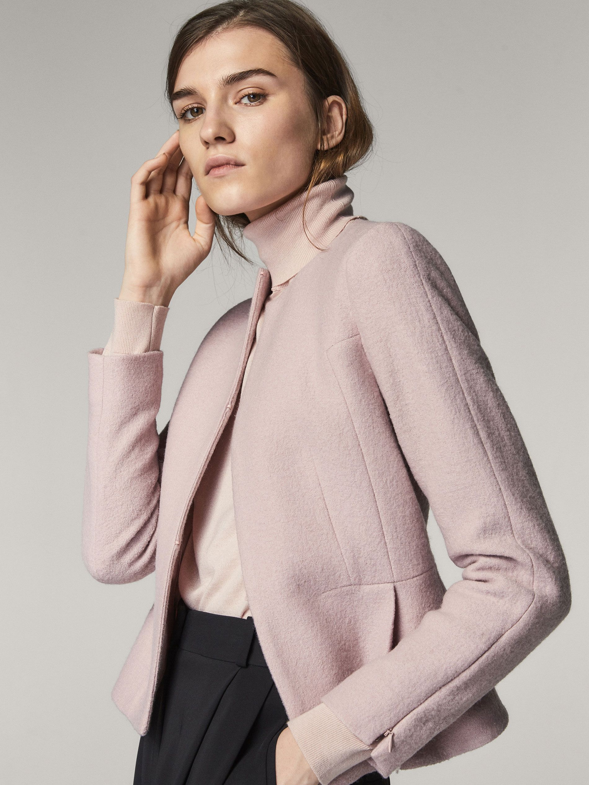 f62236cd9d5 Fall Winter 2017 Women´s BOILED WOOL JACKET WITH DARTS DETAIL at Massimo  Dutti for 150. Effortless elegance!