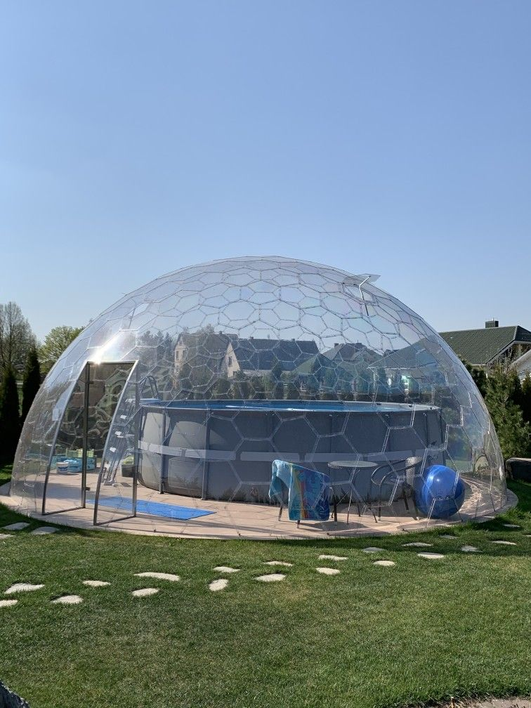 Aura Dome Transparent And Frameless Dome Geodatische Kuppel