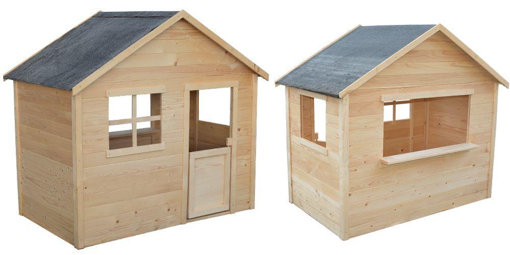 Maisonnette Lulu en bois - Zoom | Maisonnette en bois, Maisonnette,  Maisonnette enfant