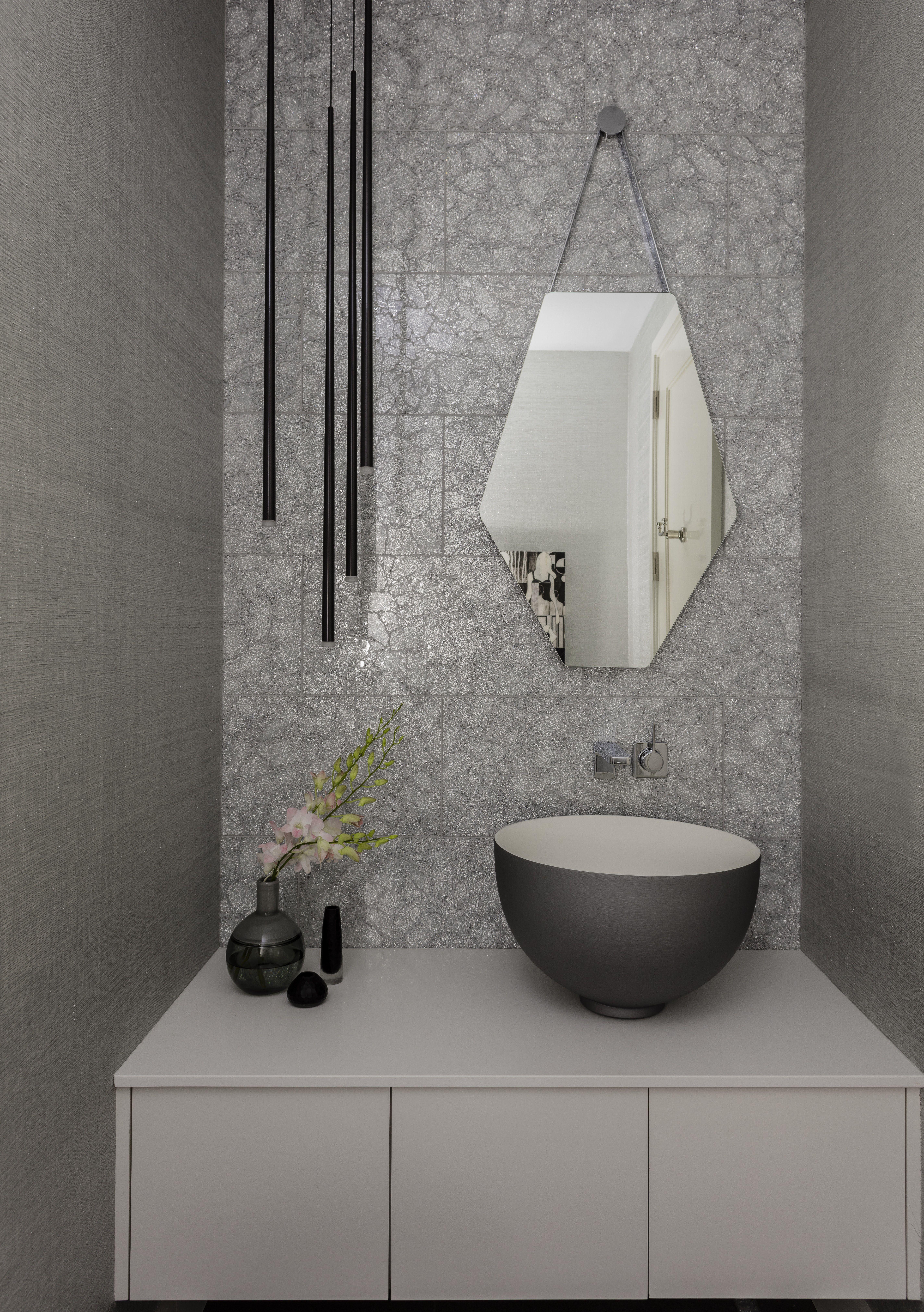 Seaport High Rise Powder Room Master Bathroom