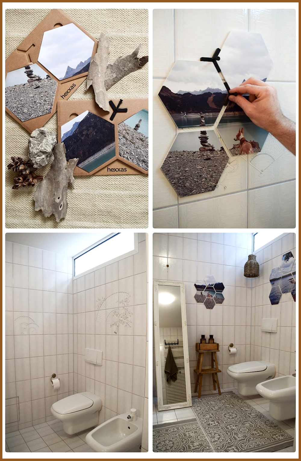 Badezimmer Ideen Wandgestaltung mit hexxas von Cewe Einfach Bild ausw hlen und an die Wand ...