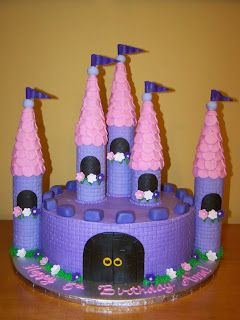 cakes by kristen h lavender and pink castle cake